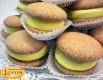 Macaron (μακαρόν) με γέμιση λεμόνι