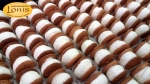Macaron (μακαρόν) με στέβια και γέμιση βανίλια