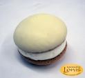 Macaron (μακαρόν) λευκή σοκολάτα και γέμιση κρέμα βανίλιας